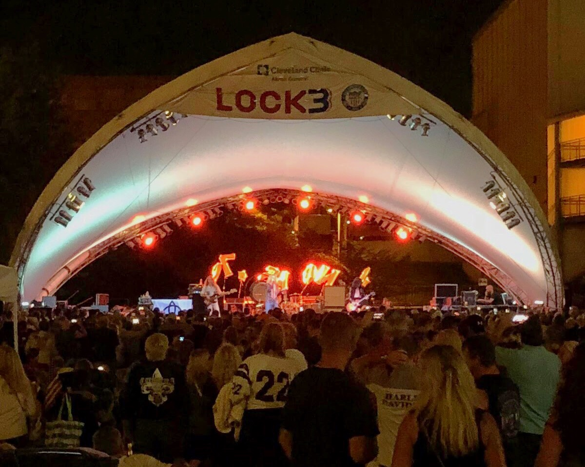 An audience gathers to watch Zoso, The Ultimate Led Zeppelin Experience, at Lock 3 in Akron, Ohio.