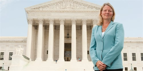 Professor Laura Little is the senior advisor to the Dean of Temple University's Beasley School of Law and has previously served as a clerk for the Chief Justice of the U.S. Supreme Court. (Courtesy of Temple University)