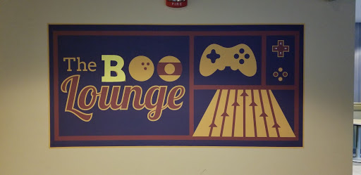 "The Roo Lounge changed their sign to ""The Boo Lounge"" in the spirit of Halloween."