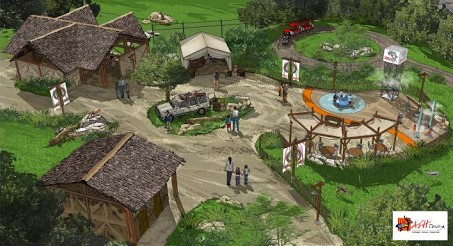 This graphic shows a plan of the Akron Zoo's Pride of Africa exhibit, set to debut in May 2020. (Image via Akron Zoo)