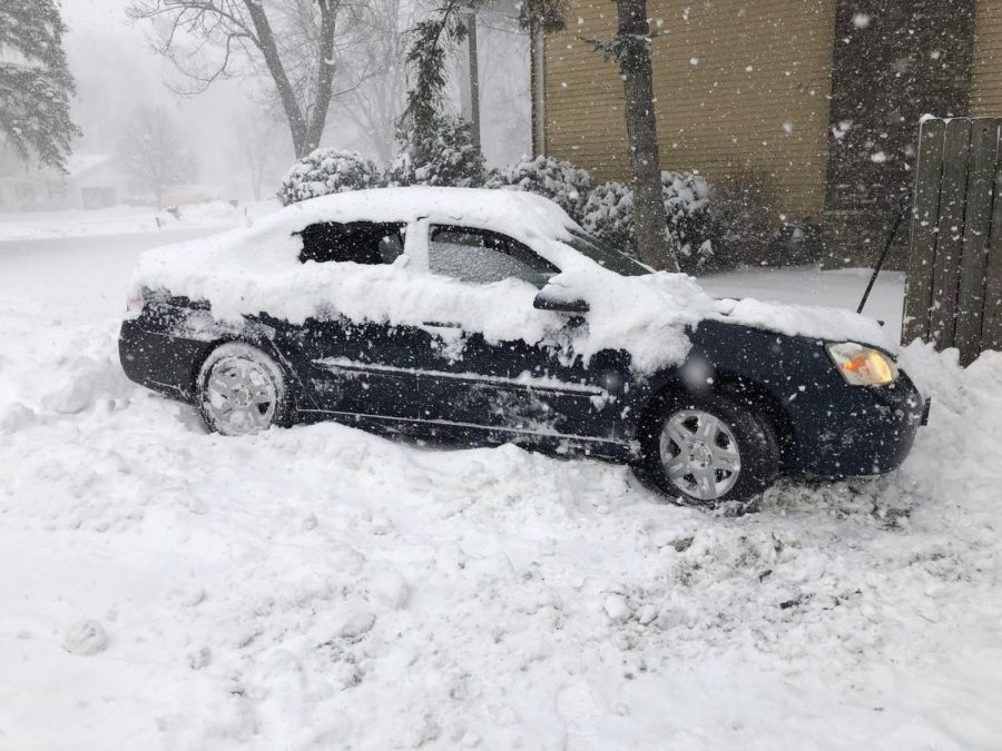 Arts and Entertainment Editor Amanda Piekarz's car got stuck while attempting to get to class on Tuesday, Jan. 19, since the University remained open.