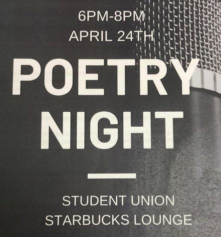 A flyer promoting the event on campus.