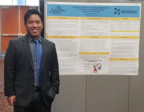 "Graduate student Eric Victory presented his research on ""Androgyny and Alcohol Use Among College Students."""