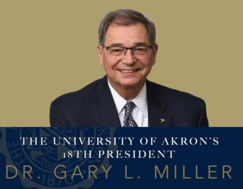 President-elect Gary L. Miller thanks those who participated in the search process for trusting him to lead The University of Akron.