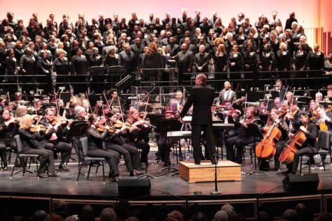 One of the Akron Symphony Orchestra's performances in early 2018.