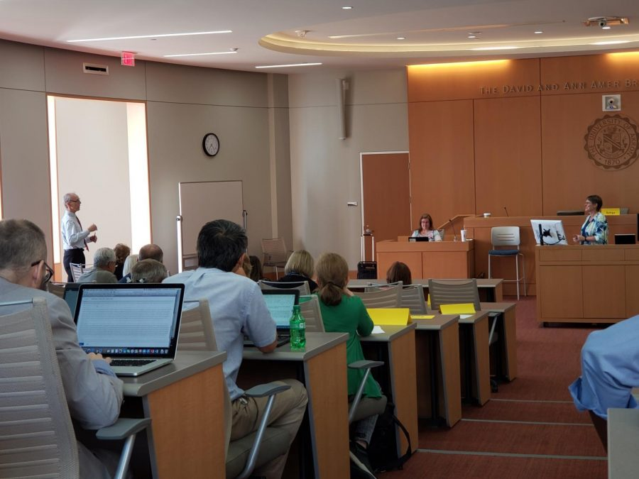 Faculty Senate at The University of Akron held their first meeting of the 2019-20 academic year in a new campus location.