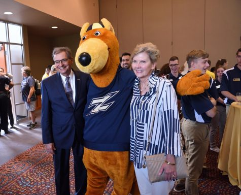 Students had the opportunity to meet President Miller and his wife during a meet-and-greet on Aug. 15.