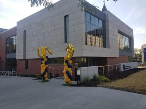 UA balloons made the celebration of the opening of the new Anthony J. Alexander Professional Development Center hard to miss.