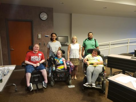 Those at the first S.A.G.A. meeting include (left to right) Jack Wolf, Ekena Poole, Breanna Sprenger, Kathleen Kulick, USG Senator-at-Large Isaiah Smith and Megan Parker.