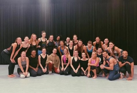 Dance students from levels V-VIII along with Parsons members during the week the company took residency at The University of Akron.