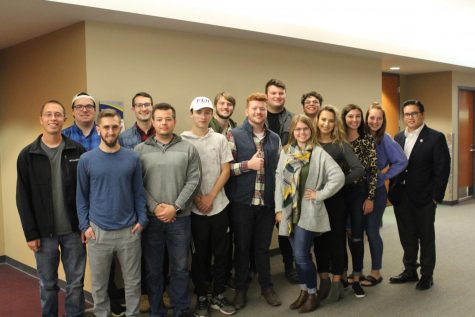 Members of the College Republicans pose as a group in the Jean Hower Taber Student Union.