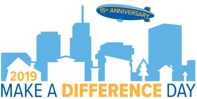 The logo used for this year's Make a Difference Day at The University of Akron.