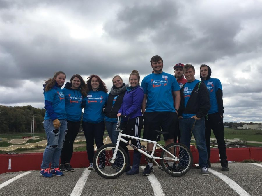 In 2016, two of my former roommates, other students and myself helped clean up the facilities at the Akron BMX Track.