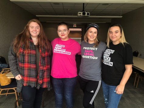 Members of PPGenUA include (left to right) Kaitlyn Rafferty, Calli Onest, Amy Quitter and Madison McKinney.