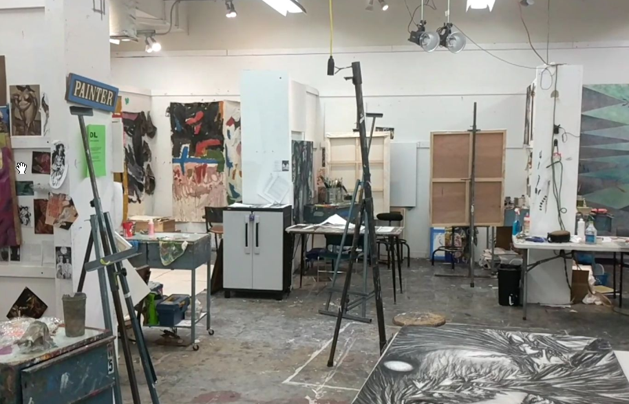 Just one of the many spaces available for students to use within the Myers School of Art.
