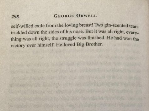 "An excerpt from page 298 of ""1984"" by George Orwell."