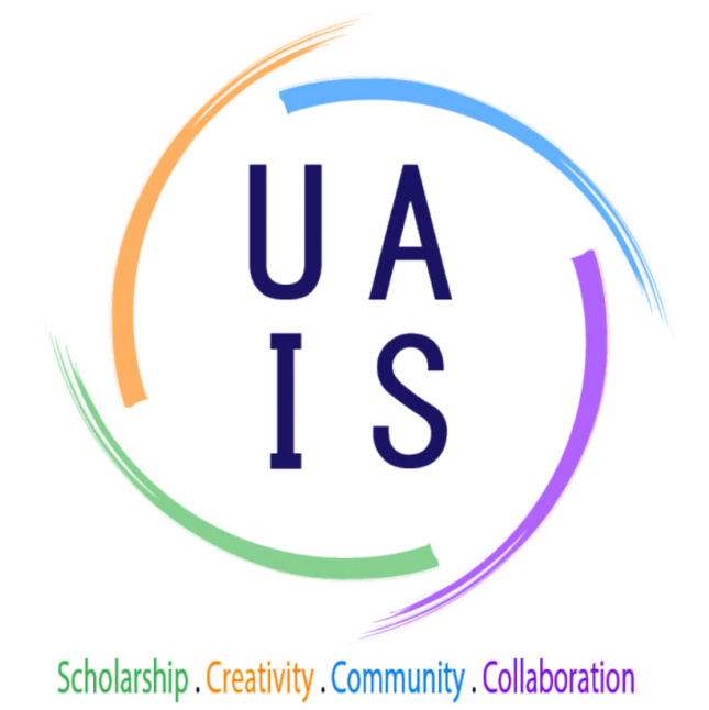 The four important factors of the UA-IS are scholarship, creativity, community and collaboration.