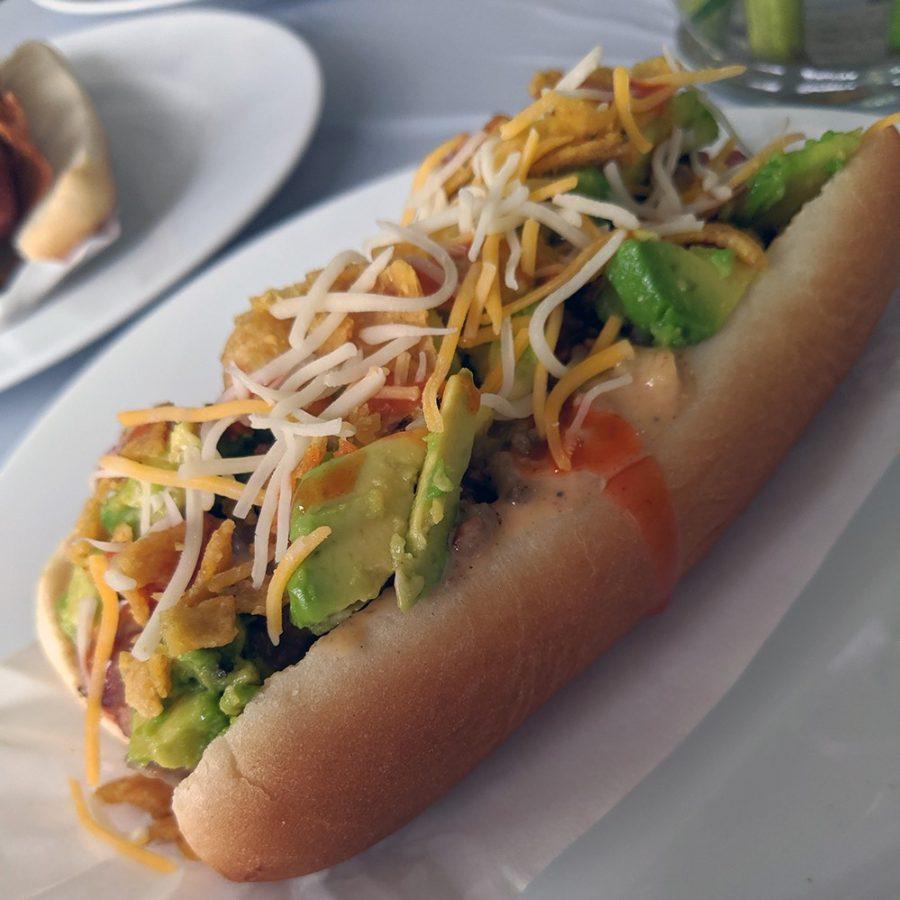 Shown above is the 2020 winning hot dog — The Duckin' Good Fiesta Dog.