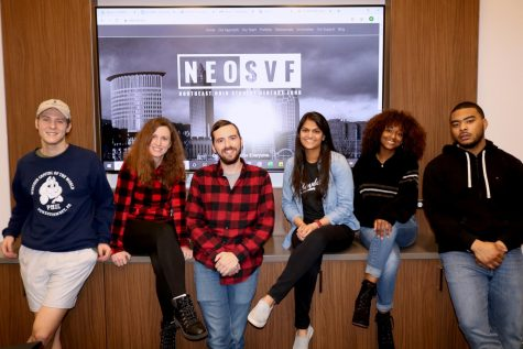 Members (left to right) Trevor Sidewand, Anne Wagner, Antony Filing, Niki Hirani, Faith Rush and Victor Wells after a recent NEOSVF meeting.