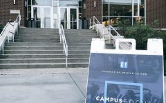 Throughout the semester, signs for Campus Focus could be seen in different locations at The University of Akron.