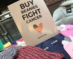 The University of Akron chapter of Love Your Melon table in the student union.
