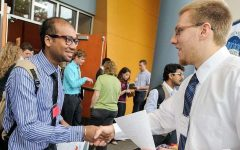 Before the pandemic, all students and alumni met face-to-face with potential employers during career fairs.