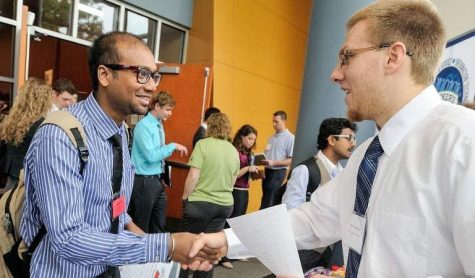 Before the pandemic, students and alumni met face-to-face with potential employers during career fairs.