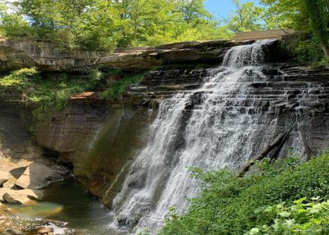 Waterfalls at Cuyahoga Valley National Park provide majestic scenery to hikes.