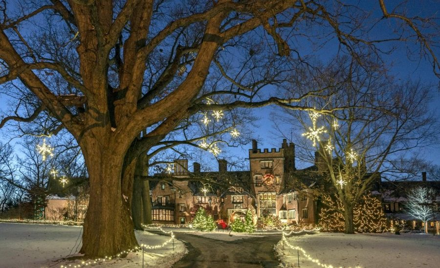 Stan Hywet Manor House decorated for Deck the Halls, with various activities and displays to view this event is a unique experience for all.