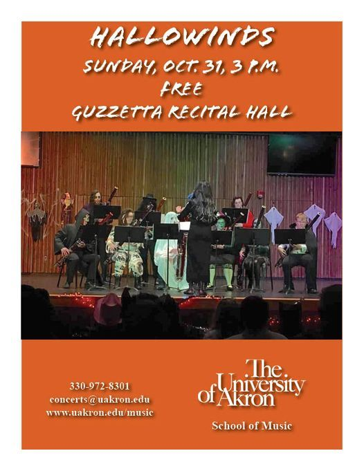 """University of Akron School of Music Presents """"Hallowinds"""" Concert on Sunday, October 31"""